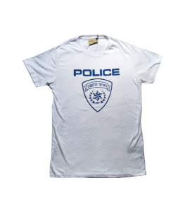 Police white t-shirt